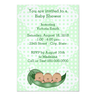 Baby Shower Triplets Peas in a Pod Card