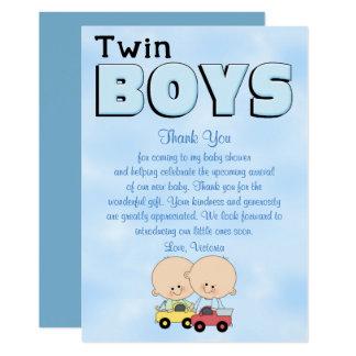 Baby Shower Twin Boys Card