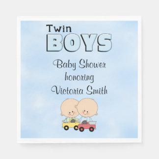 Baby Shower Twin Boys Paper Napkin