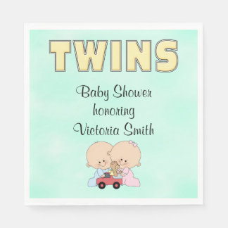 Baby Shower Twins Boy Girl Napkin