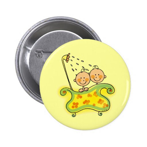 Baby shower (twins) pin
