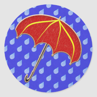 Baby Shower- Umbrella: Invitation Envelope Seals