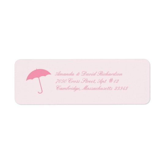 Baby Shower Umbrella Return Address Labels