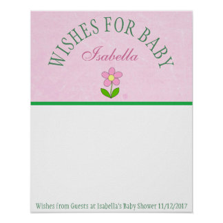 Baby Shower, Wishes for Baby Poster Keepsake