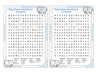 Baby Shower Word Search Gifts On Zazzle Ca