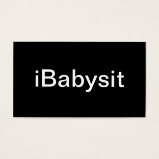 Baby Sitter Business Card
