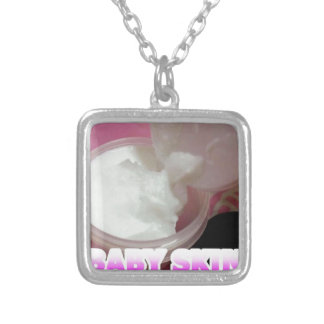 Baby Skin Lotion Silver Plated Necklace