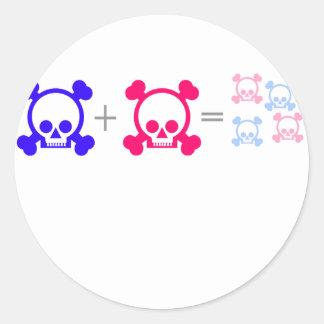 baby skulls classic round sticker