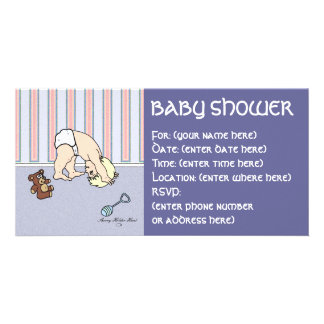 Baby Somersault Baby Shower Photo Greeting Card