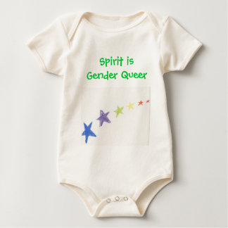 Baby Spirit is Gender Queer Baby Bodysuit