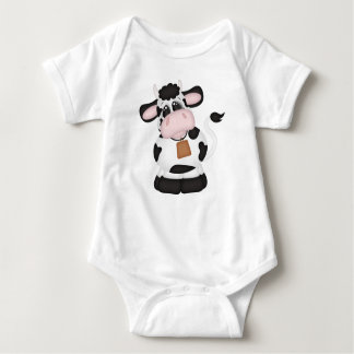 Baby Spotted Cow and Little Girl Farmer Holstein Tshirts