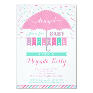 Baby Sprinkle Invitation / Umbrella Invitation
