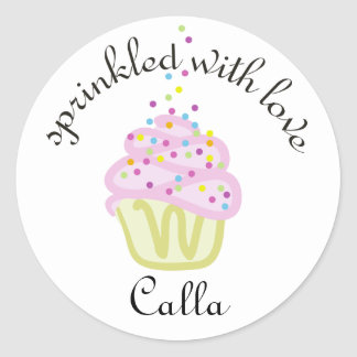 Baby Sprinkle Shower Cupcake Stickers