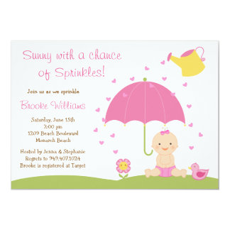 Baby Sprinkle Shower Invitation for Baby Girl
