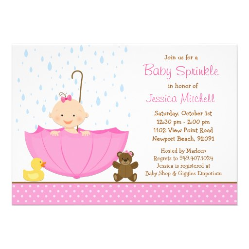 Baby Sprinkle Shower Invitation for Girl