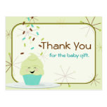 Baby Sprinkle Thank You Gender Neutral Postcards