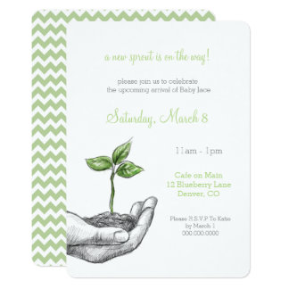 Baby Sprout Shower Invitation