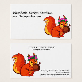 baby squirrel 568 business card