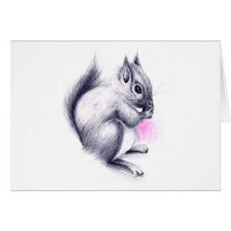 baby squirrel card