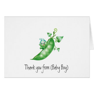 Baby Stationery/Thank You Card-Boy Pea in a Pod Card