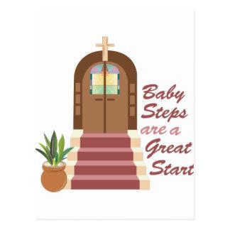 Baby Steps Postcard