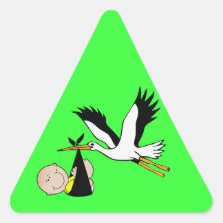 Baby Stork - Bundle of Joy Triangle Sticker