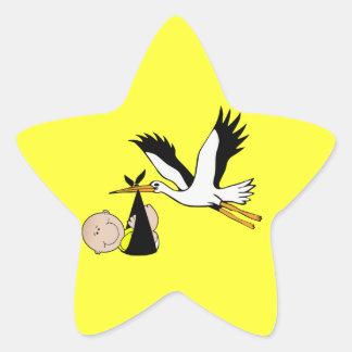 Baby Stork - Bundle of Joy Star Stickers