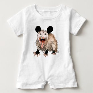 Baby Strampler with sweet opossum Baby Romper