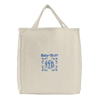 Baby Stuff - Embroidered Bag Blue