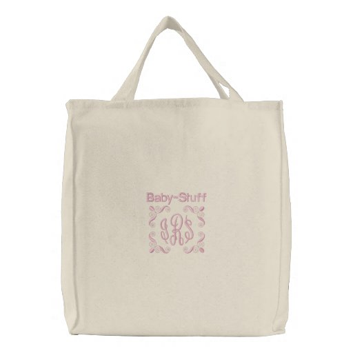 Baby Stuff - Embroidered Bag (Pink)