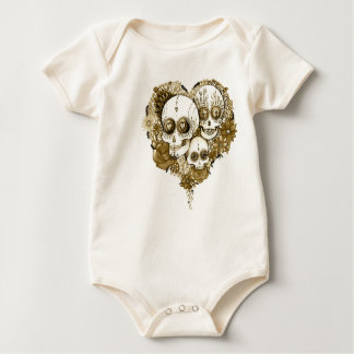 baby sugar skull clothing tattoo style vintage baby bodysuit
