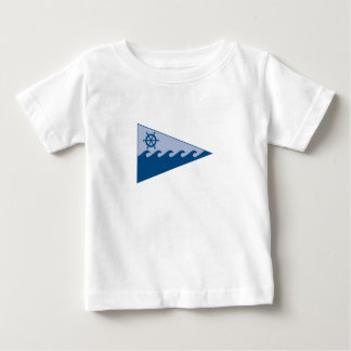 Baby T-shirt #2 with burgee on front