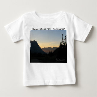 Baby T-Shirt Glacier National Park Sunrise