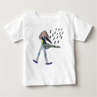 Baby T shirt -   I love ton play the guitar