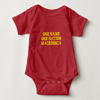 Baby t-shirt: One name, one nation - Macedonia Baby Bodysuit