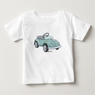 Baby t-shirt with a beetle staircase car