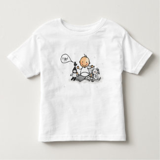 Baby t-shirt with baby and cuddling animals