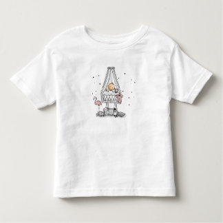 Baby t-shirt with baby in cradle and flamingo
