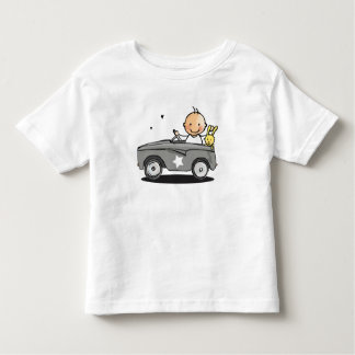 Baby t-shirt with baby in staircase car