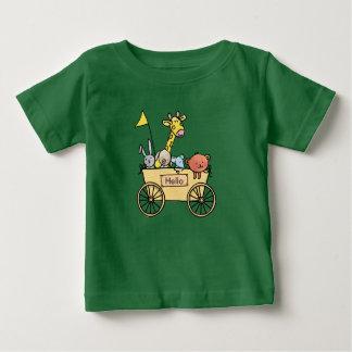 Baby t-shirt with bolderwagen full knuffels