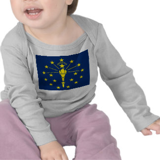 Baby T Shirt with Flag of Indiana