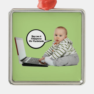 Baby Talk Customize Metal Ornament