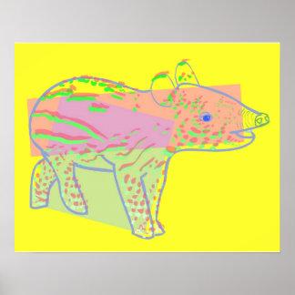 Baby Tapir Poster