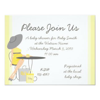 "Baby Tea 4.25"" X 5.5"" Invitation Card"