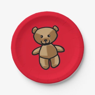 baby teddy bear toy paper plate