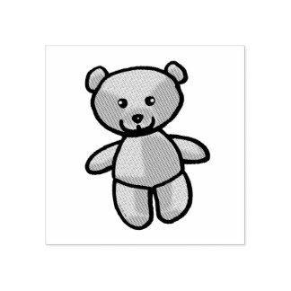 baby teddy bear toy rubber stamp