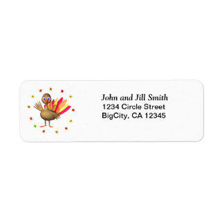 Baby Thanksgiving Turkey Return Address Label
