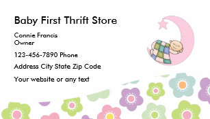 Thrift store business cards profile cards zazzle ca baby thrift store business card reheart Images