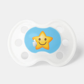 Baby Thumbs Up Emoji Star Pacifier