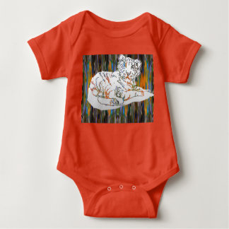Baby Tiger and Elephant Baby Bodysuit